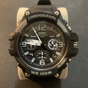 CASIO MCW-100H Men's Black/Gray Chronograph Watch